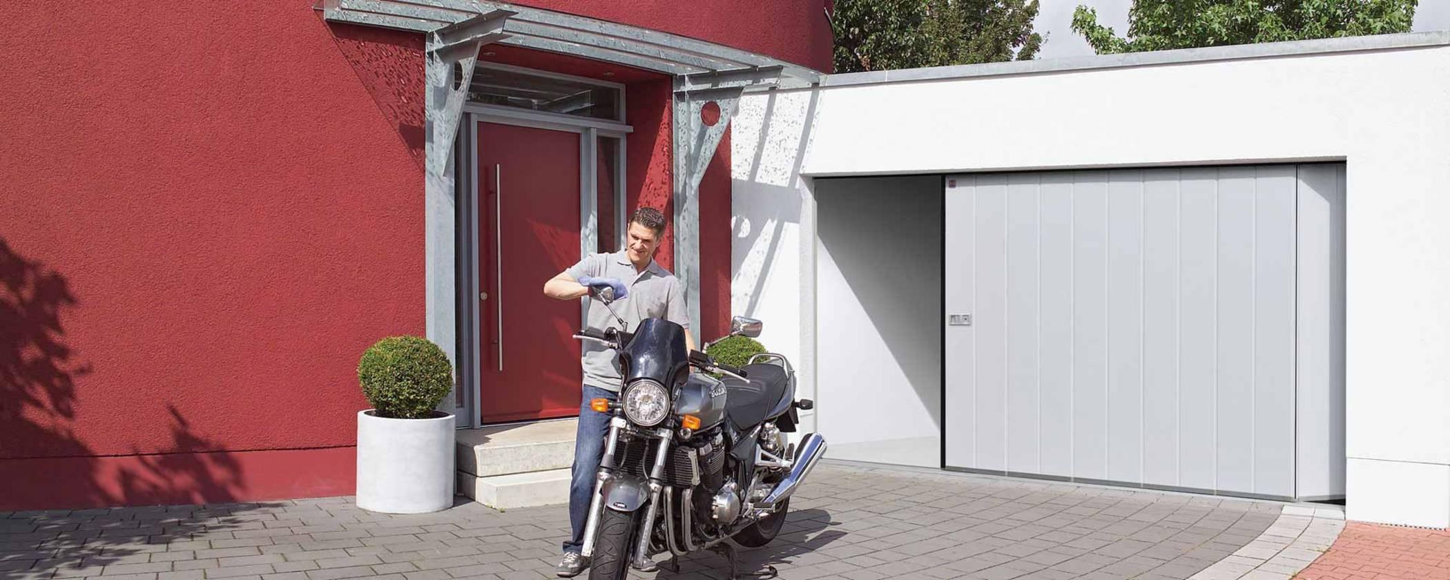 Vente et pose de porte de garage sectionnelle latérale