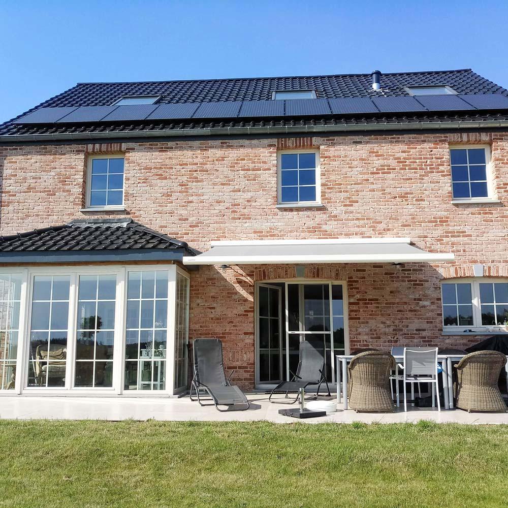 Exemple de projet d'installation de banne solaire